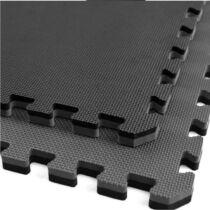 Puzzle tatami sportszőnyeg 100x100x2 cm LEE szürke-fekete