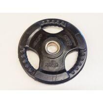 Súlytárcsa, 31 mm, gumírozott, 2,5 kg S-SPORT