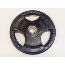 Súlytárcsa, 31 mm, gumírozott, 5 kg S-SPORT