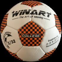 Műbőr focilabda, 5-s méret WINART COLLEGE ORANGE/BLACK
