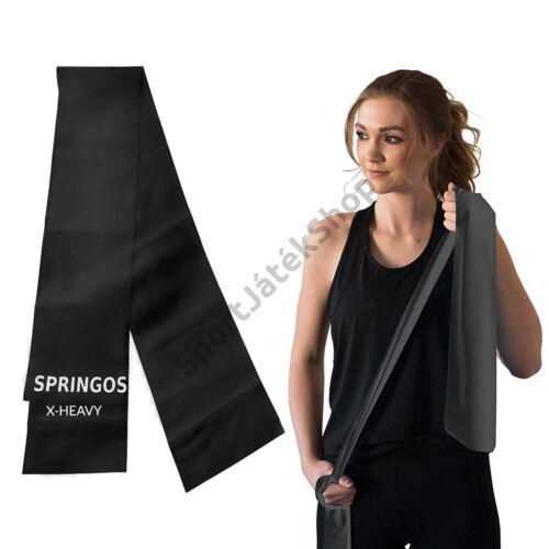 Erősítő gumiszalag, fekete SPRINGOS X-HEAVY-Sportsarok