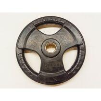 Súlytárcsa, 31 mm, gumírozott  - 20 kg