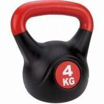 Füles súlyzó - Kettlebell, műanyag, 4 kg S-SPORT